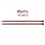 Rosewood Knitting needles KnitPro Cubics, 25cm