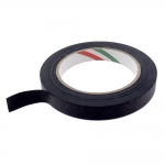 Thin nylon textile tape, black, 15mm, 50m