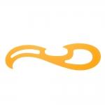 Painduv, läbipaistev kollasest plastikust lekaal, 42cm #8112