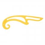 Painduv, läbipaistev kollasest plastikust lekaal, 42cm #8111