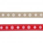 AB142 Новогодние и рождественские ленты Art.ST8/PG, 15mm