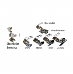 Pöördpalistajate ja kantijate komplekt Bernina õmblusmasinatele / Hem Hemmers, Bias Binder set for Bernina Sewing Machines