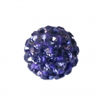 Vahepärl, värviliste klaaskristallidega 10mm