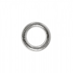 Connector Ring, metal bead, ø9,5 x 2 mm, hole ø6 mm