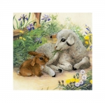 Cross-Stitch Kit Riolis 0051 PT Lamb and Rabbit