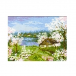Cross-Stitch Kit RIOLIS Art.1524 Apple Blossoms