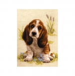 Cross-Stitch Kit Riolis 1578 Basset Hound Puppy