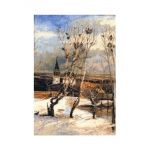 Cross-Stitch Kit Riolis 912 The Rooks Have Come Back after A. Savrasov`s Painting