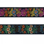 Mustal taustal lillemustriga kaunistuspael 35mm, Art. 35097FC