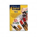 Darwi Tex Marker pen, felt pen set, 3mm, 12pcs x 6ml