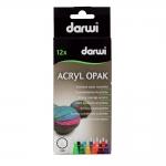 Маркер DARWI Tex Opaque, 1мм, емкость 3мл, комплект 12шт