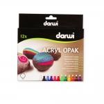 Маркер DARWI Tex Opaque, 3мм, емкость 6мл, комплект 12шт