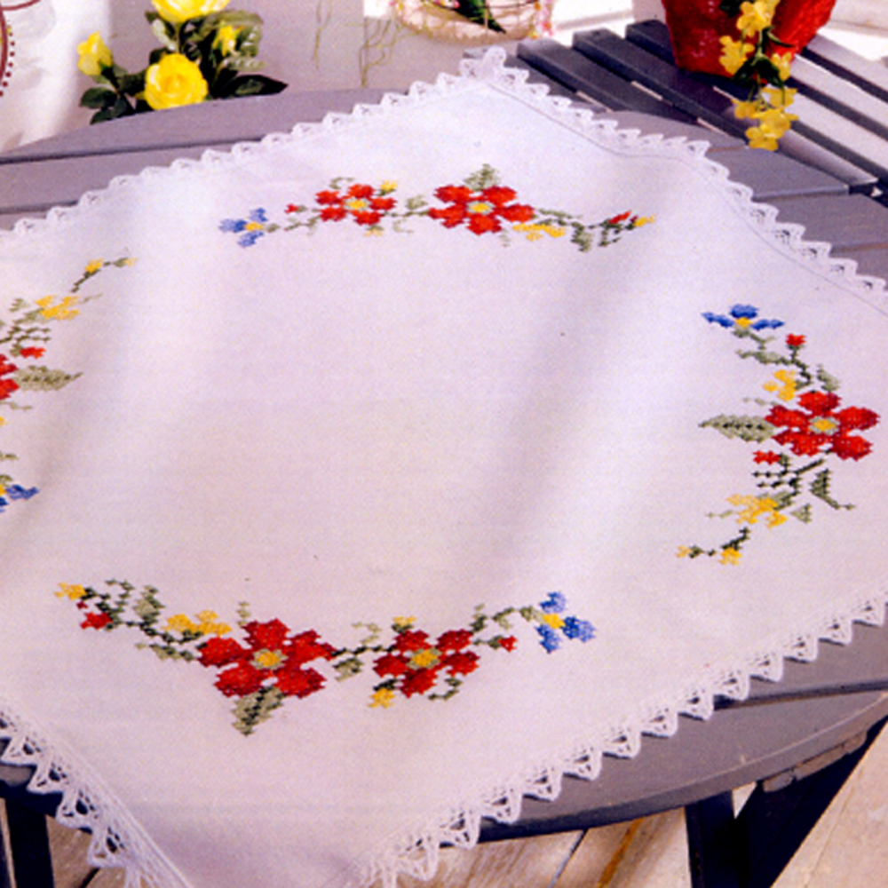 Pre-stamped Table Topper/ Duftin / Art. 15-034TT
