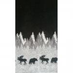 Pehme põtrade ja karudega kunstkarusnahk Nr.17