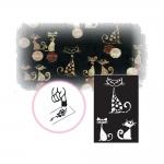 Самоклеющие трафареты, шаблоны для декора и тату 12см х 18см, Ki-Sign