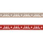 Новогодние и рождественские ленты 15mm Art.ST17-PG