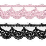 Embroidered Lace P-2618, 7,5 cm