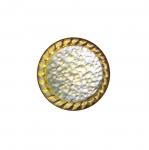 Metallist, kuldne, reljeefse mustriga, kannaga nööp 18mm, 28L