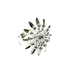 Sõrmusetoorik suure lillega / Flower Finger Ring Base / 23mm