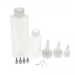 125 ml and 35 ml plastic bottles with nibs in various thickness