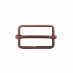 Metal triglide buckle, fashion buckle 35x25 mm for belt width 30 mm