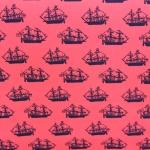 Laevamustriga veniv puuvillane kangas 152cm 129.005