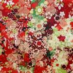 Jacquard-kangas keinosilkki Art.62037