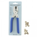 Pliers for ø15mm o-spring press buttons & 4 sets of press buttons, PLS-203