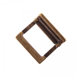 Metal buckle, 25x25 mm for belt width 20 mm