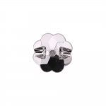 Õmmeldav lillekujuline plastikkristall/nööp 13mm