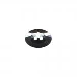 Õmmeldav, kahe auguga, ovaalne plastikkristall/nööp 14x10mm