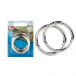 Swivel hook; bag ring; swivel ring; snap hook, 45 mm, hole ø35 mm, 2 pcs, Prym 417 890