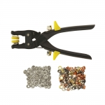 2-in-1 Eyelet & snap plier, ø4,8mm eyelets 25 pcs snap sets included, SewMate NS-64-20