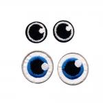 Triigitav piltaplikatsioon silmad, 2 paari, 3cm ja 2cm