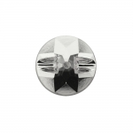 Ümar, tahuline kristallilaadne, süvistatud kannaga akrüülnööp 12mm, 20L
