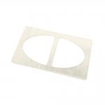 Plastikust teokarbi helgiga pinguti, plastpannal 70x40 mm, rihmale laiusega 30 mm