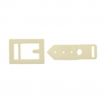 Plastic buckle, 75x43 mm for belt width 18 mm