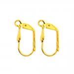 Kõrvarõnga konksud kandilised; / Earring Ear Wires, Lever Back; / 16 x 9mm