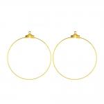 Kõrvarõnga toorik; / Round Loop Earring Ear Wire; / 45mm