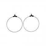 Kõrvarõnga toorik; / Round Loop Earring Ear Wire; / 35mm