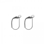 Earring Ear Wires, Lever Back; / 16 x 9mm