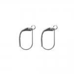 Kullatud/hõbetatud kõrvarõngahaagid kandilised (leverback); / Earring Ear Wires, Lever Back; / 16 x 9mm