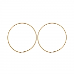 Kõrvarõnga toorik kullatud/hõbetatud; / Round Loop Earring; / 30mm