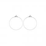 Kõrvarõnga toorik; / Round Loop Earring Ear Wire; / 30 x 0,7mm