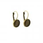 Suletava haagiga, ümara plaadiga kõrvarõngatoorikud / Earring Ear Wire, Closable Clasp / 24 x 14mm