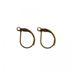 Earring Ear Wires, Lever Back; / 13 x 10mm