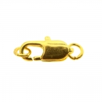 Karabiinhaak otstes rõngastega / Two Ring Lobster Clasp with Jump Ring / 12mm
