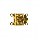 Karpkinnis kandiline antiikse mustriga / 14 x 10mm