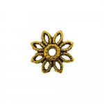 Bead Cap with Flower Pattern / 10 x 3mm