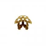 Pitsiline lillekujuline pärlikübar / Bead Cap / 17mm